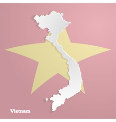 Abstract icon map of vietnam vector