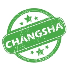 Changsha green stamp vector