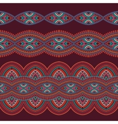 Abstract tribal stripes background set vector