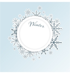 Winter circle background vector