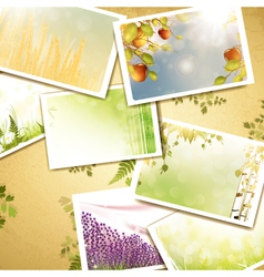 vintage eco background vector image