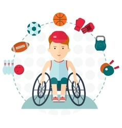 Handicapped boy choose sport vector