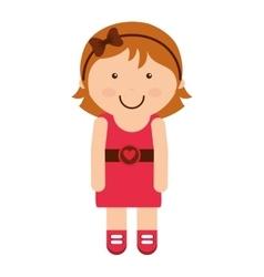 Little girl smile icon vector