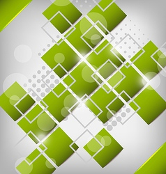 Abstract creative green background with squares vector