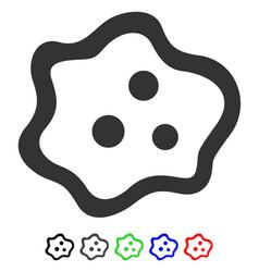 Amoeba flat icon vector