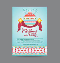 Blue hanging christmas ornament postcard vector