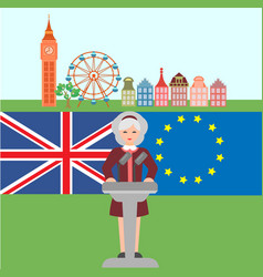 Brexit in united kingdom vector