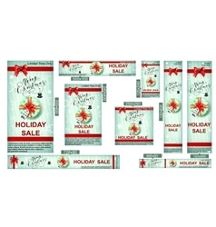 Christmas sale web banners vector image