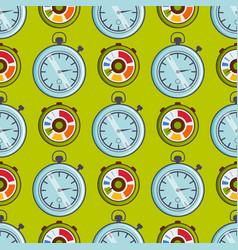 clock watches timer seamless pattern vector image