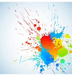 colorful ink vector image vector image
