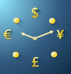 Currency time passing vector image