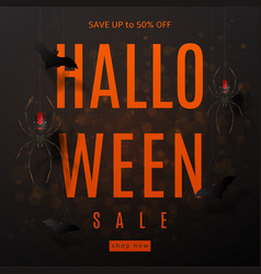 Dark background for halloween sale vector