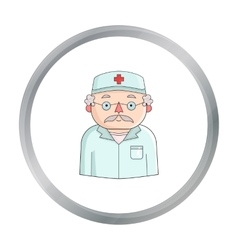 Doctor icon in cartoon style isolated on white vector image vector image