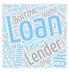 Easy uk loans loans now come handy text background vector