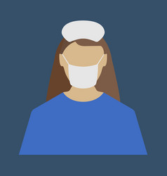 Female doctor medical object flat icon vector