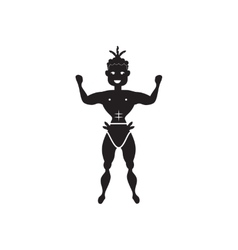 Flat icon in black and white man dancer vector