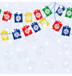 garland with gifts vector image vector image