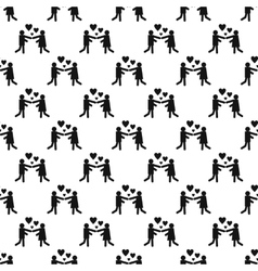 Girl and boy pattern seamless vector