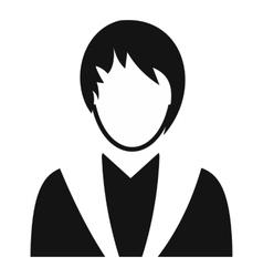 Girl avatar simple symbol vector