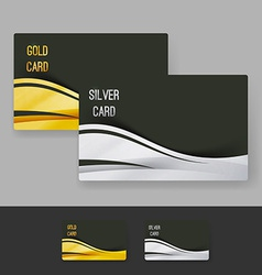 Golden and silver membership luxury card design vector image
