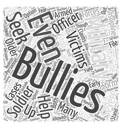 Military bullying word cloud concept vector