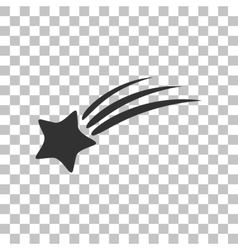 Shooting star sign dark gray icon on transparent vector