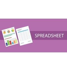 spreadsheet document vector image