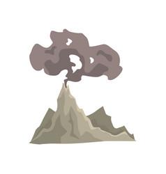 Volcano eruption awakening dangerous vulcan with vector