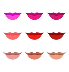 Women lips icon set vector