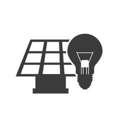 Solar energy panel with icon vector