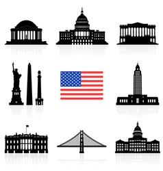 Usa travel icon vector