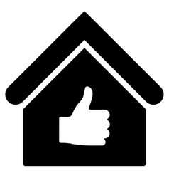 Thumb Up Building Flat Icon vector image