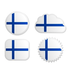 Finland flag labels vector