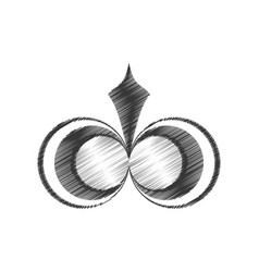 Drawing decorate ornate element style vector