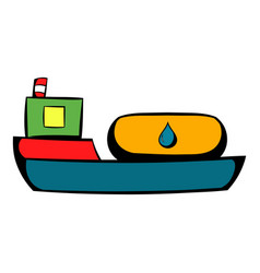 Oil tanker icon icon cartoon vector