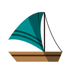 Isolated sailboat icon image vector