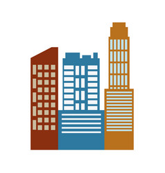Commercial buildings architecture real estate vector