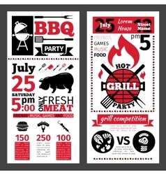 Barbecue invitation vector