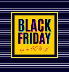 Black friday sale poster design vector