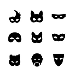 Festive carnival icons vector