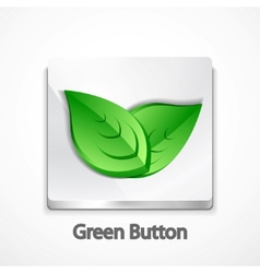 Nature concept on button vector