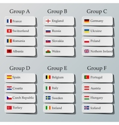 Soccer group stages vector