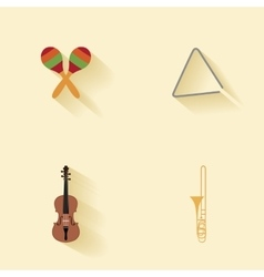 Abstract music instruments vector