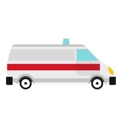 Ambulance icon flat style vector image vector image