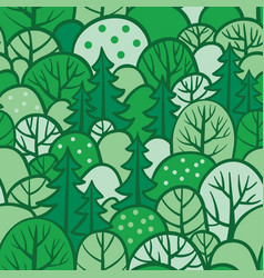 Background with summer trees vector