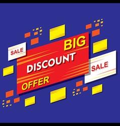 big discount offer banner or poster design vector image