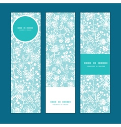blue and white lace garden plants vertical vector image vector image