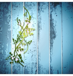 Blue summer fence vector