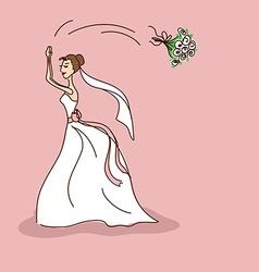 Bridal shower or wedding invitation vector image vector image