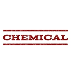 Chemical Watermark Stamp vector image vector image